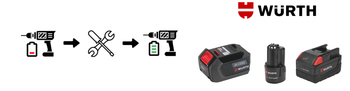 Regeneracja akumulatorów Würth